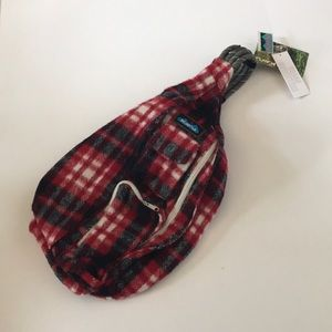 KAVU Plaid Rope Sling Bag